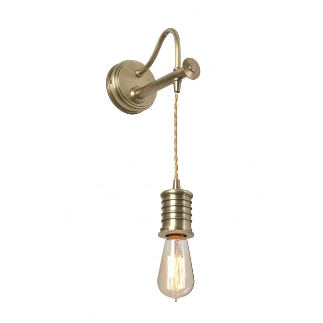 DOUILLE period style antique brass hanging wall light