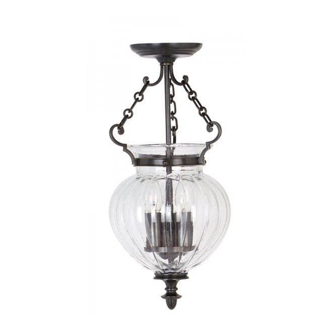 Elstead Lighting FINSBURY PARK traditional old bronze hall lantern, medium