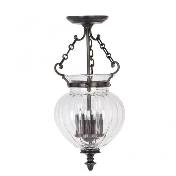 Elstead Lighting FINSBURY PARK traditional old bronze hall lantern, small
