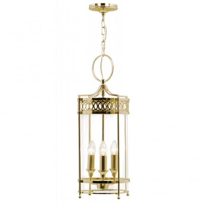 Elstead Lighting GUILDHALL Georgian hall lantern, polished brass finish