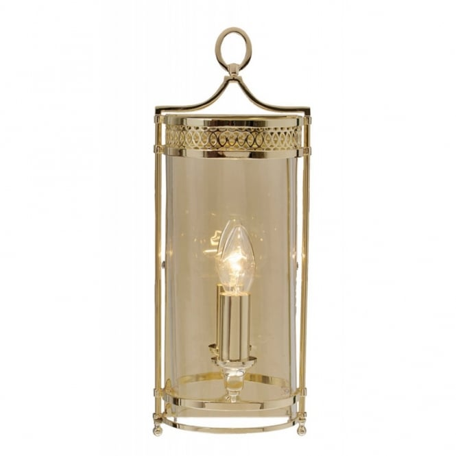 Elstead Lighting GUILDHALL traditional Georgian wall lantern, polished brass