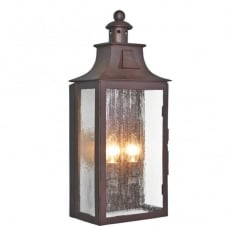 KENDAL wrought iron outdoor wall lantern