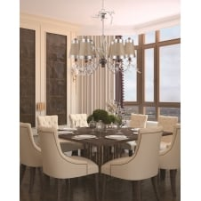 KRISTAL LUXE Decortive 6 Light Chandelier