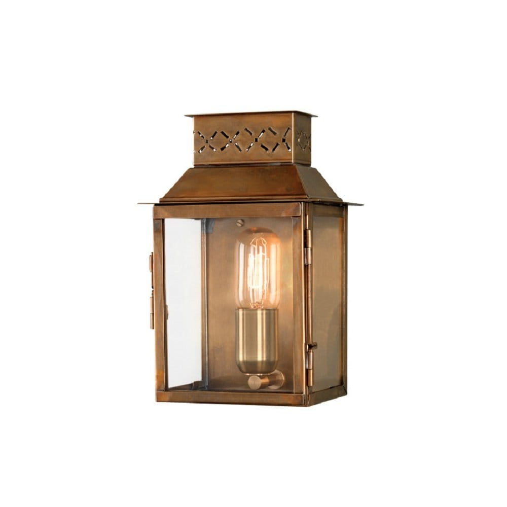 Olde English Antique Brass Garden Wall Lantern Based On Georgian Design
