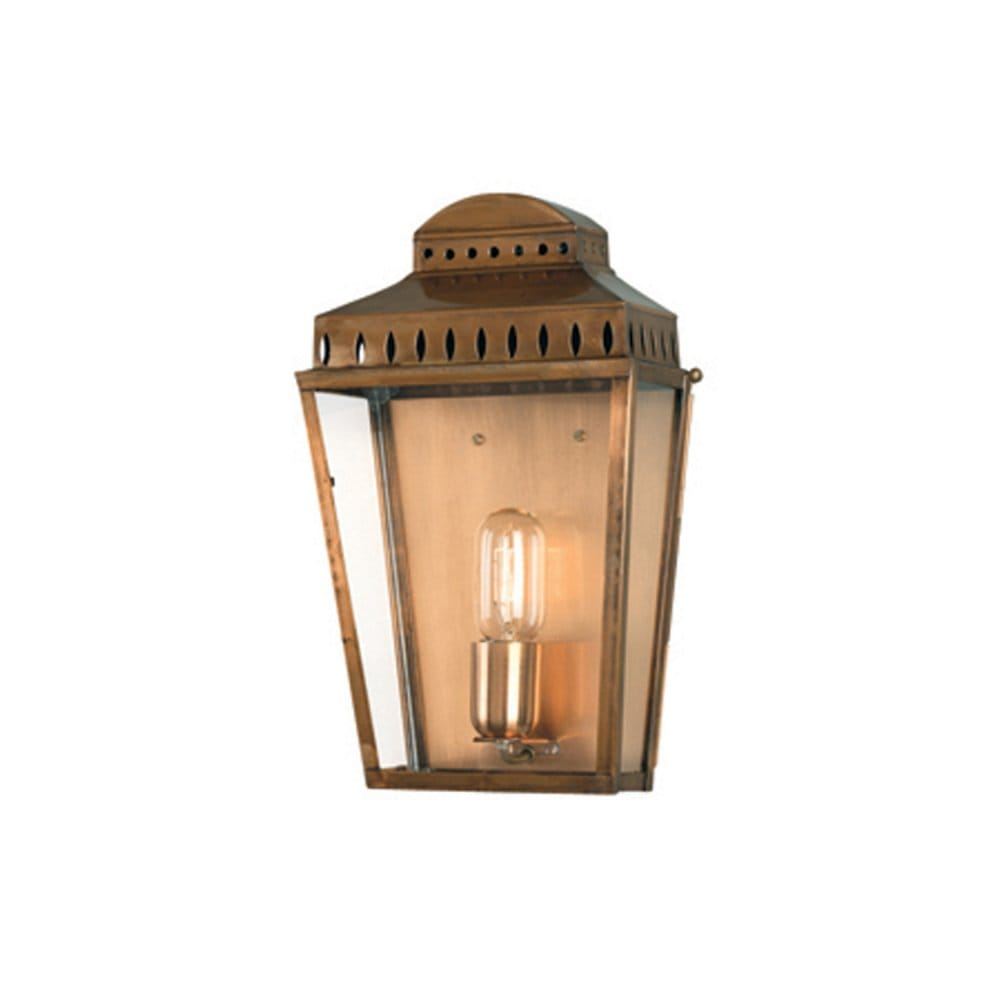 Period Outside Wall Lights : Traditional Georgian Solid Antique Brass Period Outdoor Wall Lantern