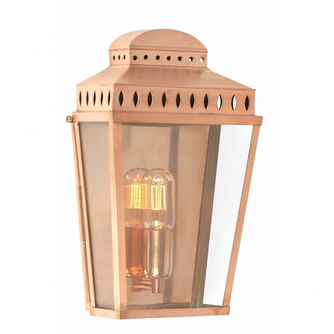 Elstead Lighting MANSION HOUSE traditional copper garden wall lantern