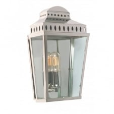 MANSION HOUSE traditional polished nickel exterior garden wall lantern
