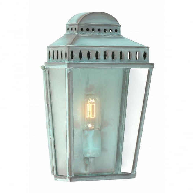 Elstead Lighting MANSION HOUSE traditional verdigris garden wall lantern