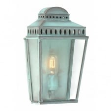 MANSION HOUSE traditional verdigris garden wall lantern