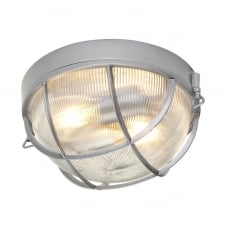 modern nautical style flush exterior bulkhead light in hematite finish