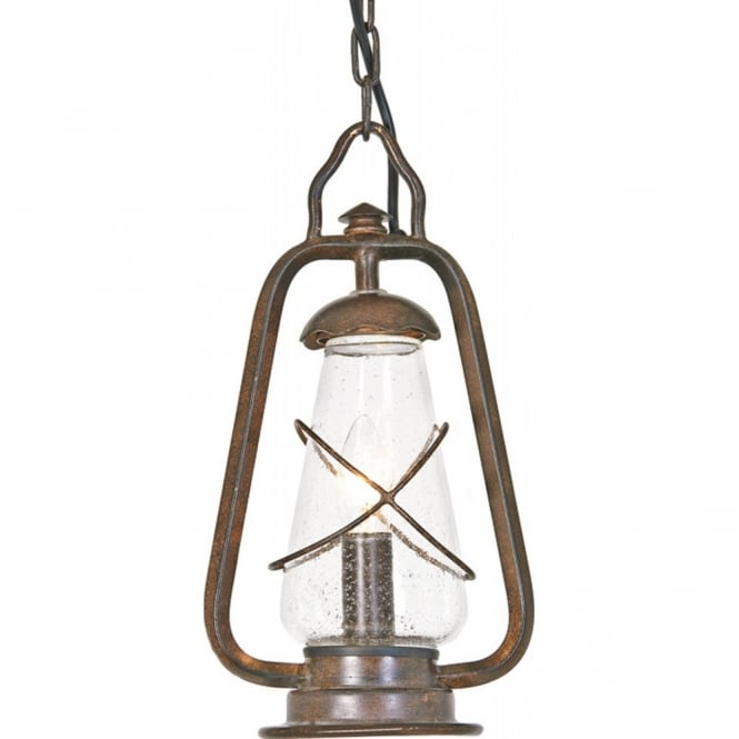 Elstead Lighting MINERS traditional porch or outdoor hanging lantern