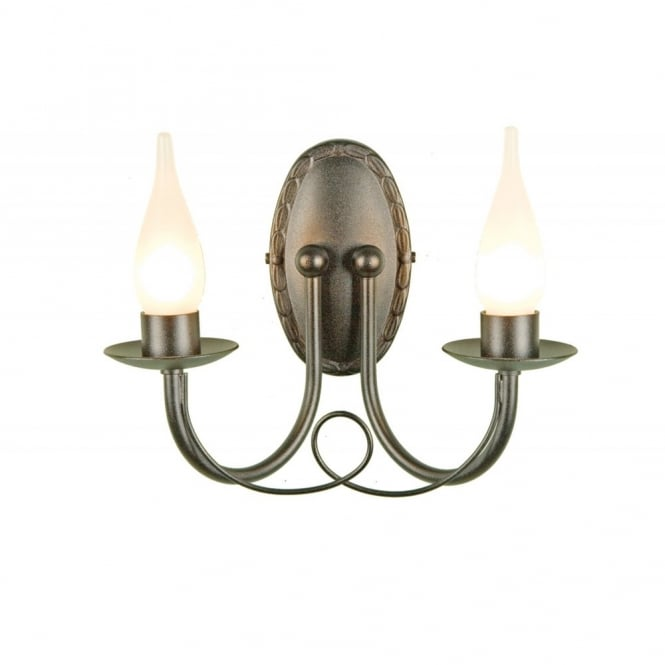 MINSTER traditional bathroom wall light, black