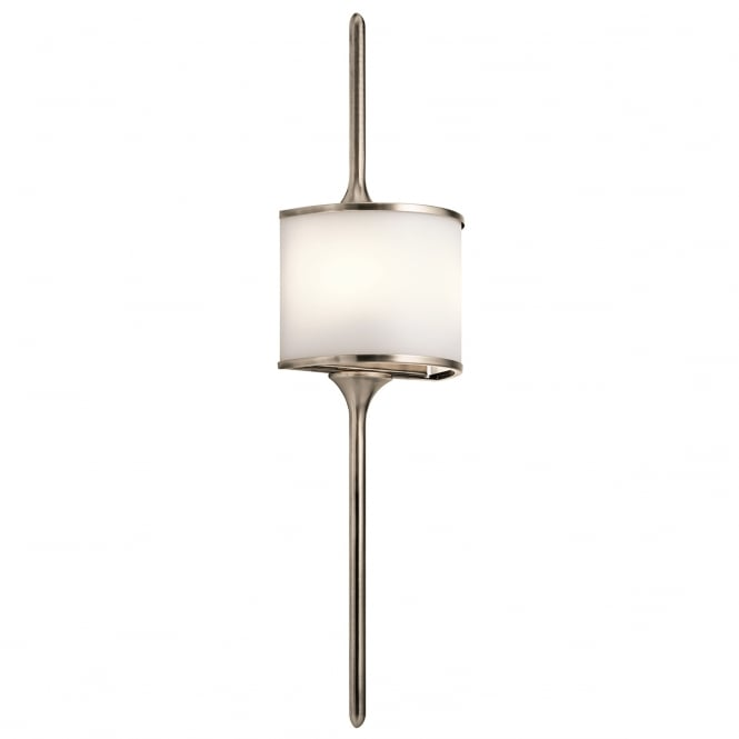New York Lighting Collection MONA modern bathroom wall light in classic pewter (large)