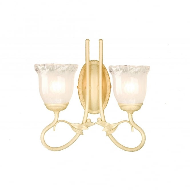 OLIVIA traditional gold ivory bathroom wall light