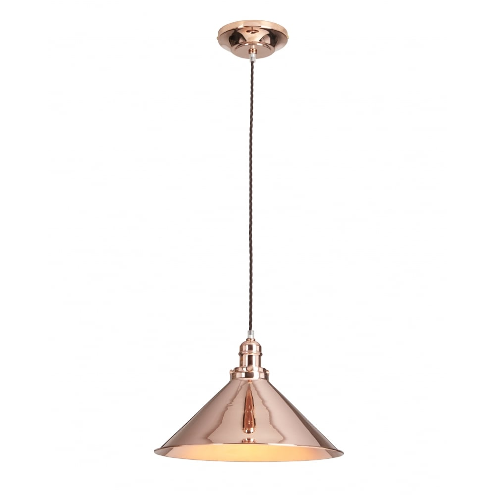 Single Copper Industrial Style Ceiling Pendant Light