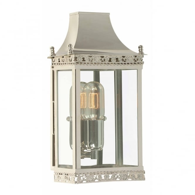 Elstead Lighting REGENTS PARK traditional polished nickel garden wall lantern