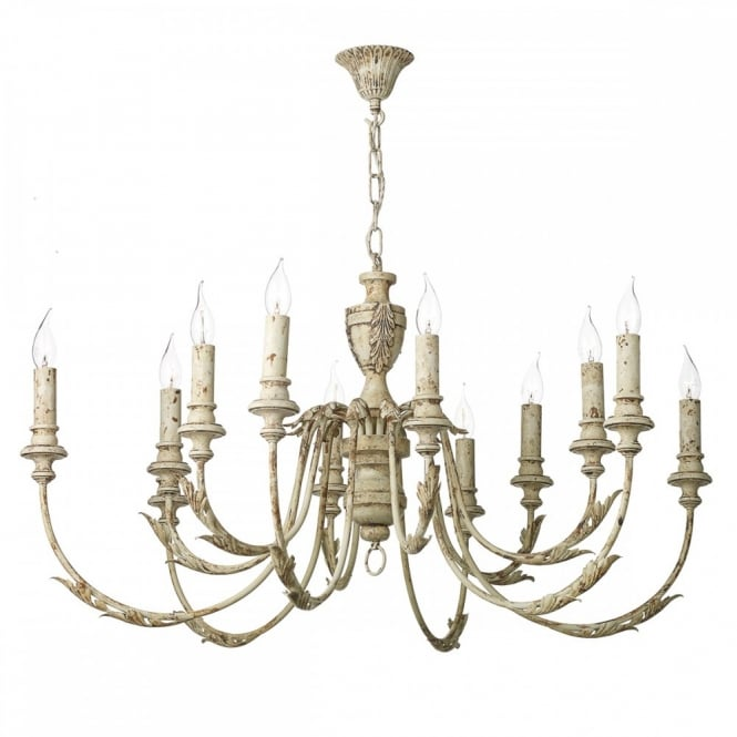 French Style Painted Chandelier Vintage
