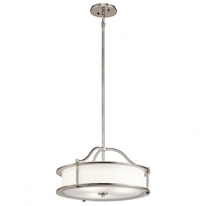 Dining Room Lighting Emory Collection Emory 3 Light: Modern Classic 3 Light Drum Ceiling Pendant With Classic