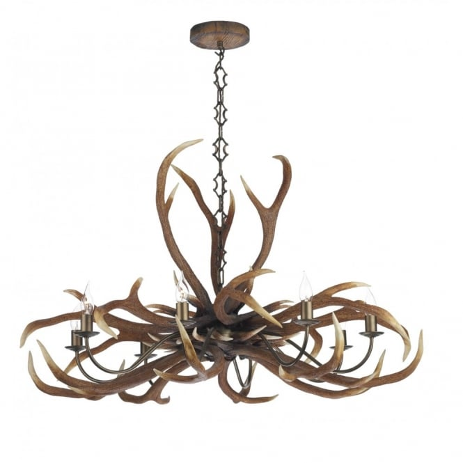 David hunt emperor stag antler ceiling light large rustic pendant aloadofball Choice Image