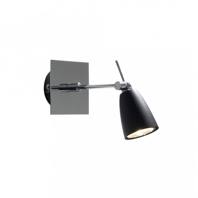 Single wall spotlight in sleek black chrome for contemporary look empire single black chrome wall spotlight aloadofball Image collections