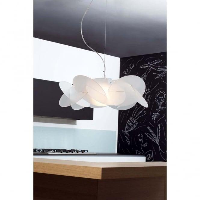 White cream ivory ceiling lights bea modern white italian ceiling pendant light aloadofball Choice Image