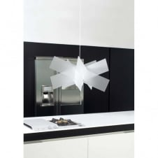 KARTIKA small white ceiling pendant light