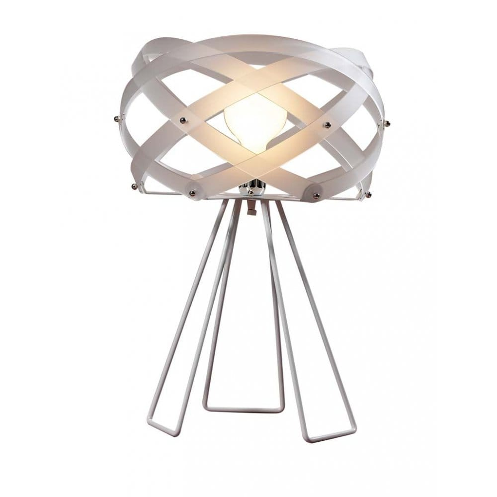 Italian design nuclea modern white table light for Table lamp emporium
