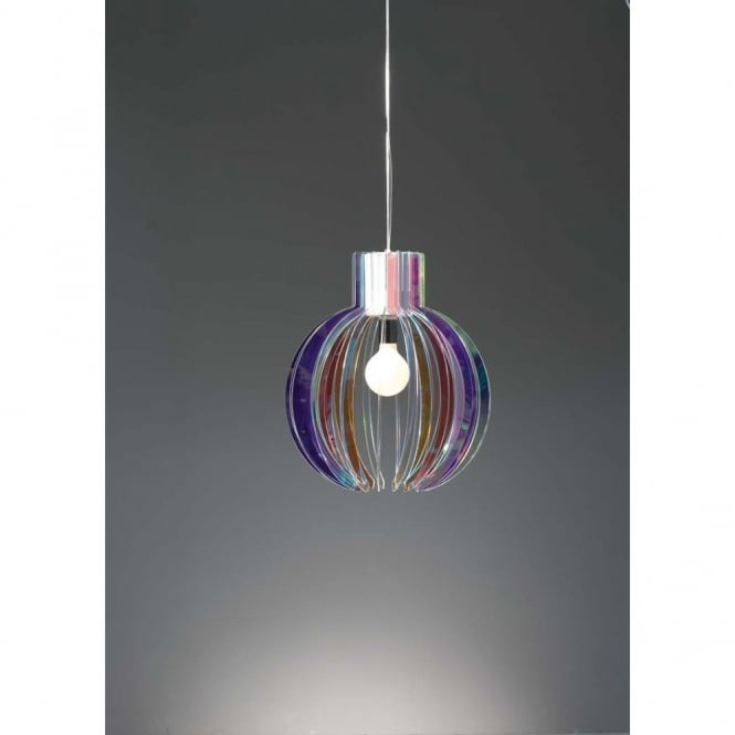 Emporium PAPALLA Italian design large multi-coloured ceiling pendant (EX-DISPLAY)
