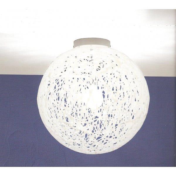 White Ceiling Lights: Reload Italian Design Large White Flush Globe Ceiling Light