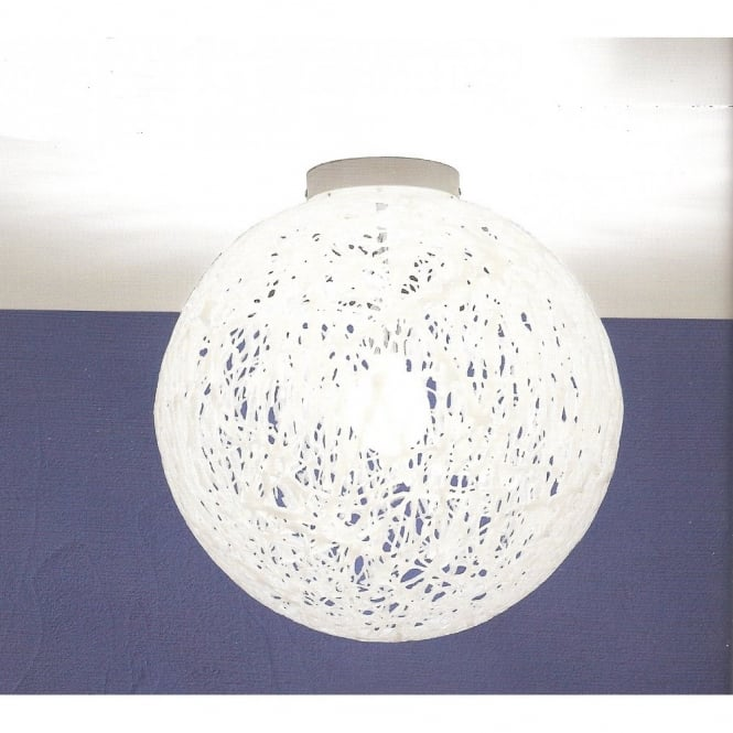 Emporium RELOAD Italian design large white flush globe ceiling light