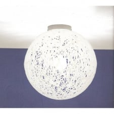 RELOAD Italian design large white flush globe ceiling light