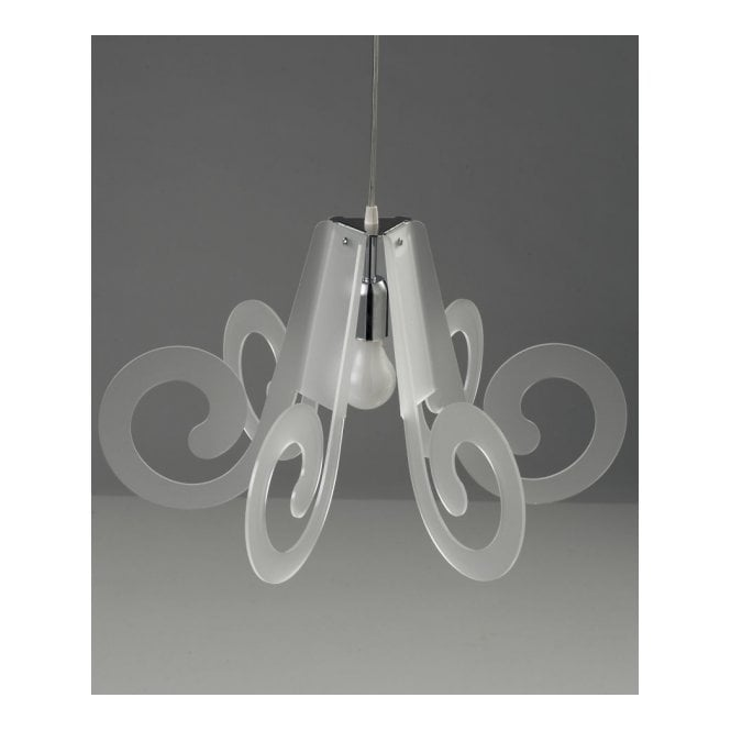 RICCIOLINO Italian design small white ceiling pendant light