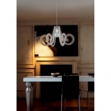 RICCIOLO Italian design large white ceiling pendant light