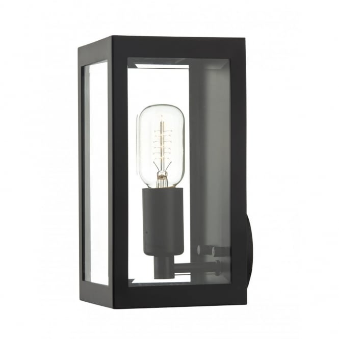 Outdoor Lighting Companies: Rustic Black Box Outdoor Wall Light
