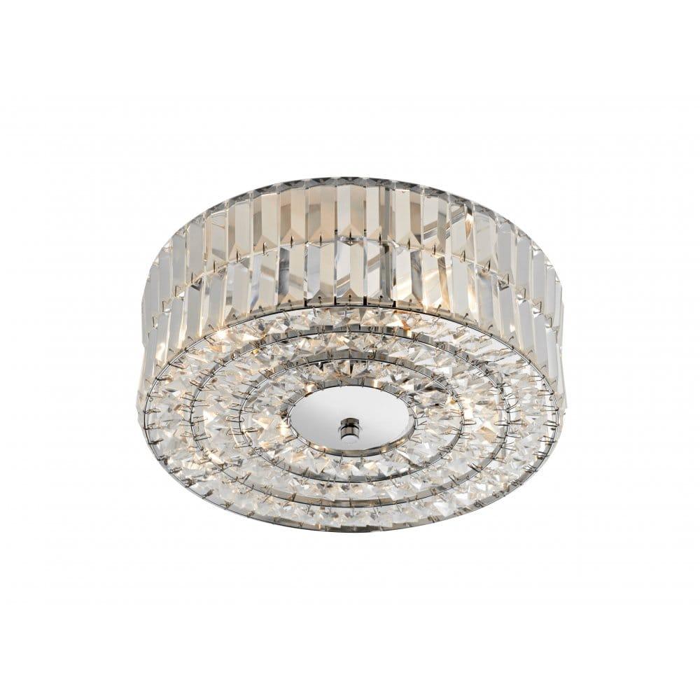 Modern Crystal Chandelier Drum Shade Chandelier Light Crystal Light Fixture
