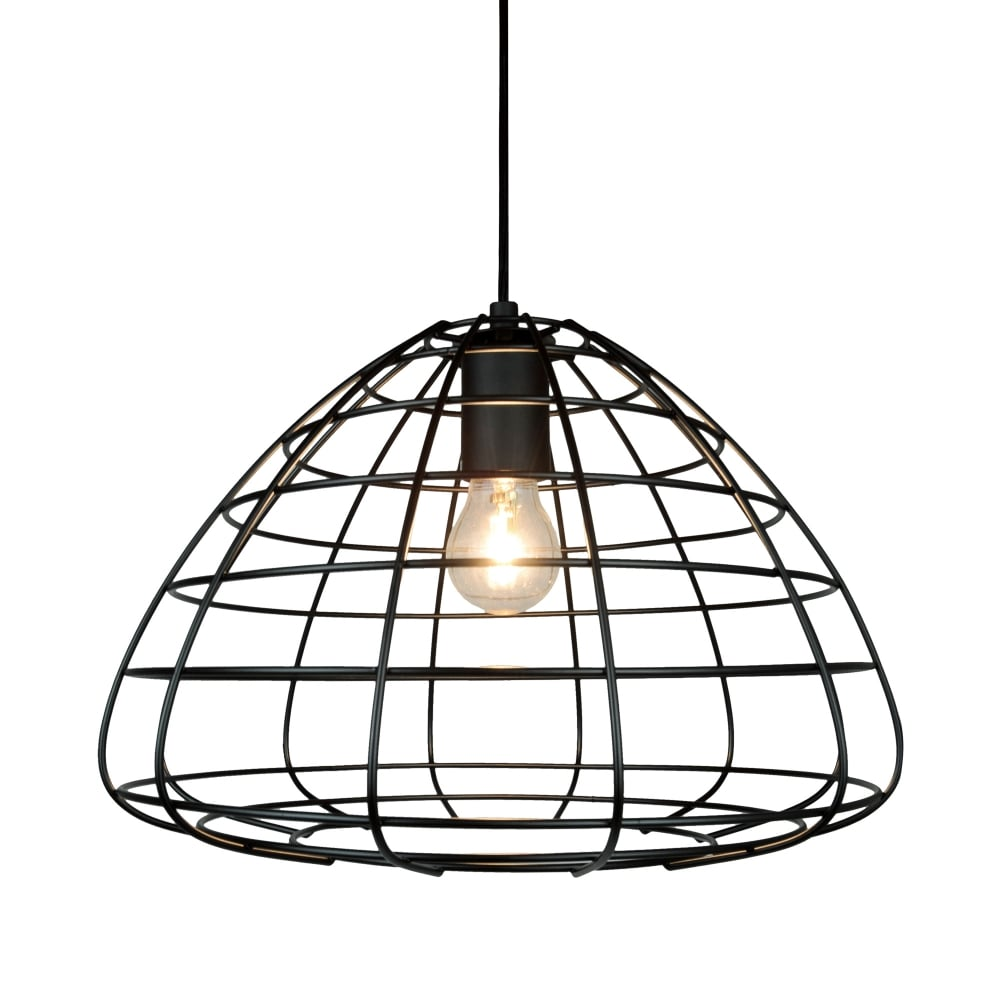 Black Wire Frame Ceiling Pendant Wiring A Lamp Light
