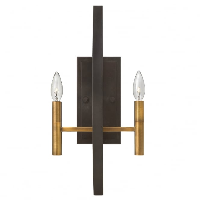 EUCLID double wall light in two tone bronze