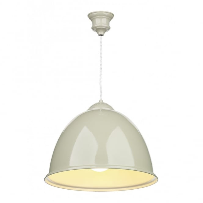 EUSTON double insulated French cream ceiling pendant