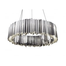 polished stainless steel chandelier