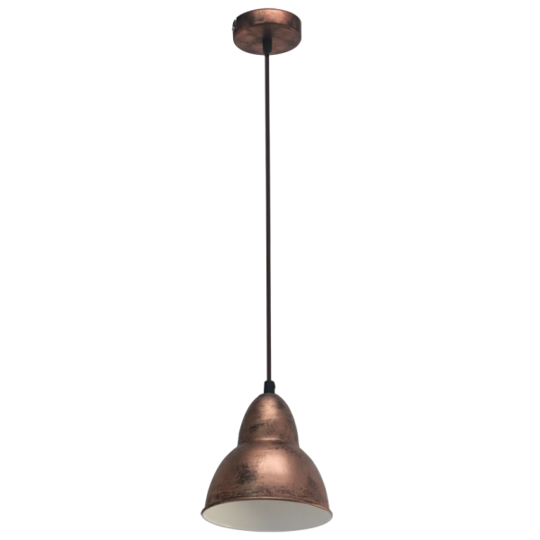 vintage collection factory retro ceiling pendant light in a copper
