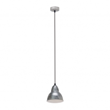 FACTORY retro ceiling pendant light in an antique silver finish