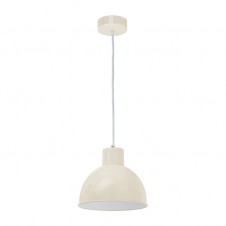 FACTORY retro ceiling pendant with sandy outer and white inner
