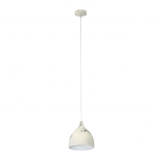 FACTORY retro design ceiling pendant in a limed white finish