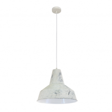 FACTORY retro style ceiling pendant in a limed white finish