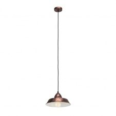 FACTORY rustic industrial design ceiling pendant in a copper finish