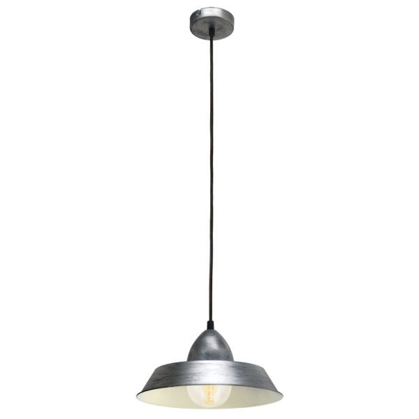 Commercial Lighting Auckland: Retro Antique Silver Ceiling Pendant