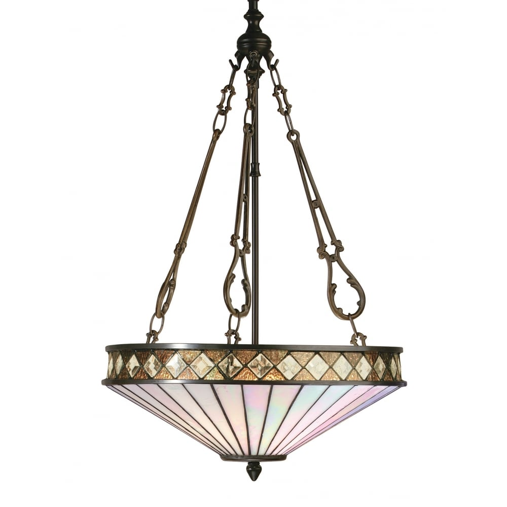 tiffany style pendant light fixture. FARGO Art Deco Tiffany Style Uplighter Ceiling Pendant Light Fixture