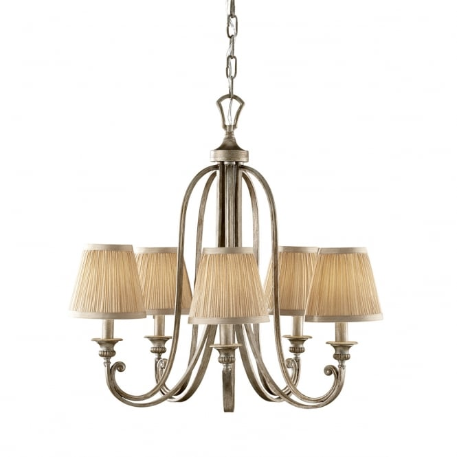 Feiss ABBEY traditional Edwardian 5 light chandelier