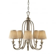 ABBEY traditional Edwardian 5 light chandelier