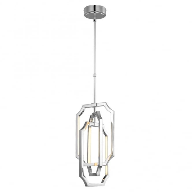 AUDRIE contemporary kinetic mobile style chrome LED ceiling pendant (medium)